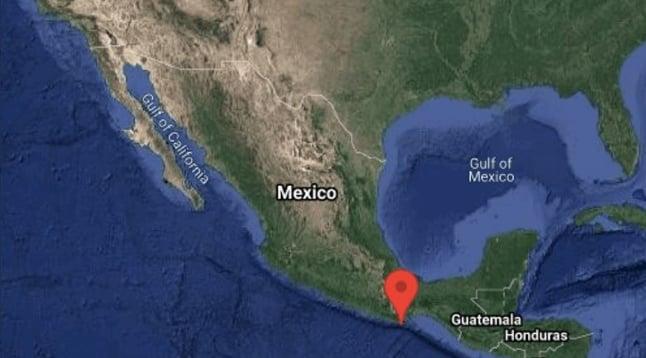 Epicentro sismo en México