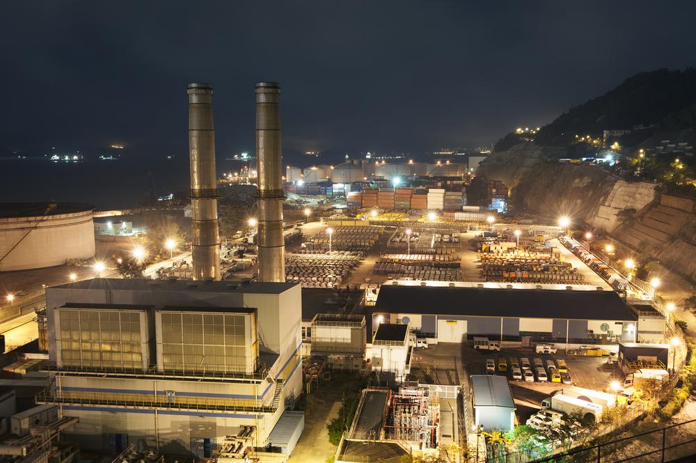 planta de emergencia industrial